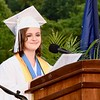 Jesi Yost — For Digital First Media<br /> Valedictorian Jordyn Markle addresses the class of 2018 at Daniel Boone High School.