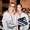 Jesi Yost — For Digital First Media<br /> Twins Abby and Emily Dlhopolsky display their decorated mortar boards. The sisters were part of Daniel Boone High School's class of 2018.