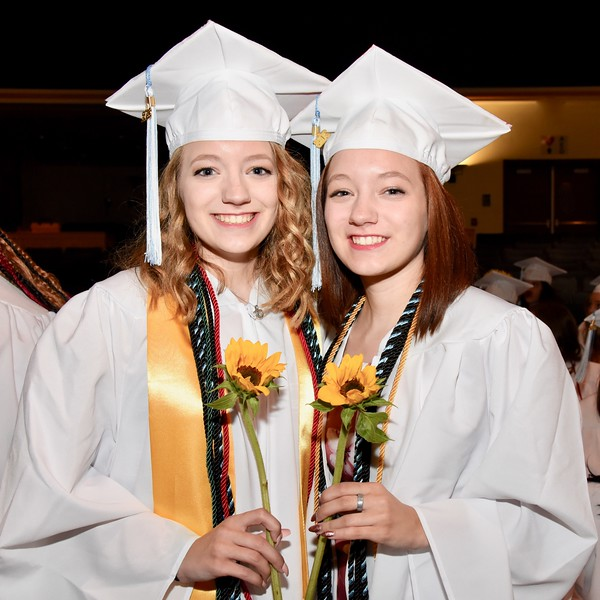 Jesi Yost — For Digital First Media<br /> Sydney and Kayla Kunkel are part of the class of 2018 at Daniel Boone High School.
