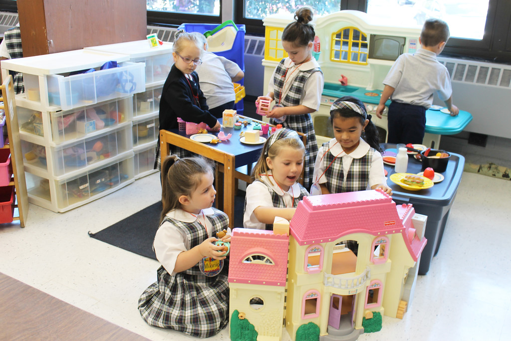 . School is serious business at St. Aloysius Parish School, but there is always time for play as well.