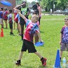 Children threw a Frisbee as part of Field Day at Franklin Elementary School in Pottstown Friday, May 27, 2016.