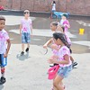Franklin Elementary students got drenched in water while playing field games in Pottstown Friday, May 27, 2016.