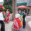 Dancers from the Centro Cultural Latinos Unidos organization perform a Mexican dance during the first Pottstown outdoor farmers market on High Street. Photo Courtesy of Patti Klein Photography
