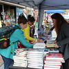 The Federation of Pottstown Teachers gave away free children's books during the outdoor farmers market in Pottstown.