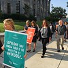 Eric Devlin — Digital First Media<br /> Montgomery County officials marched around the Montgomery County Courthouse Thursday in a showing of solidarity against the opioid epidemic.