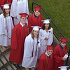 PETE  BANNAN-DIGITAL FIRST MEDIA           Owen J. Roberts seniors make their way into graduation  which was held on in the school stadium Friday evening.