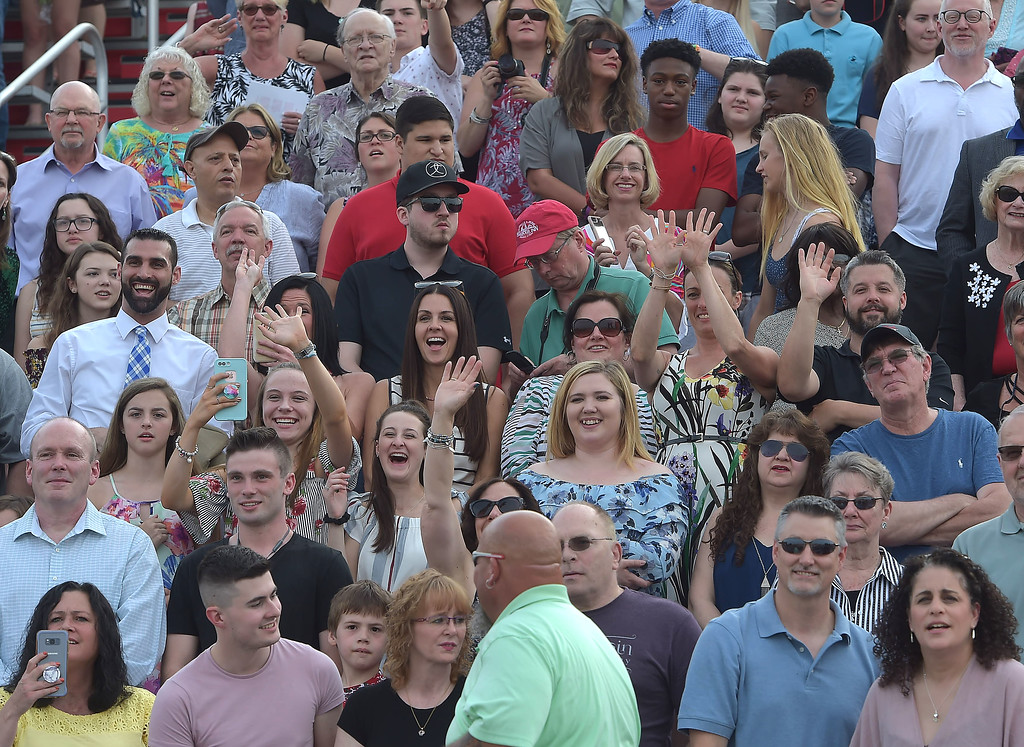 . PETE  BANNAN-DIGITAL FIRST MEDIA          The stands were full of cheering family and friends for  Owen J. Roberts  graduation which was held on in the school stadium Friday evening.