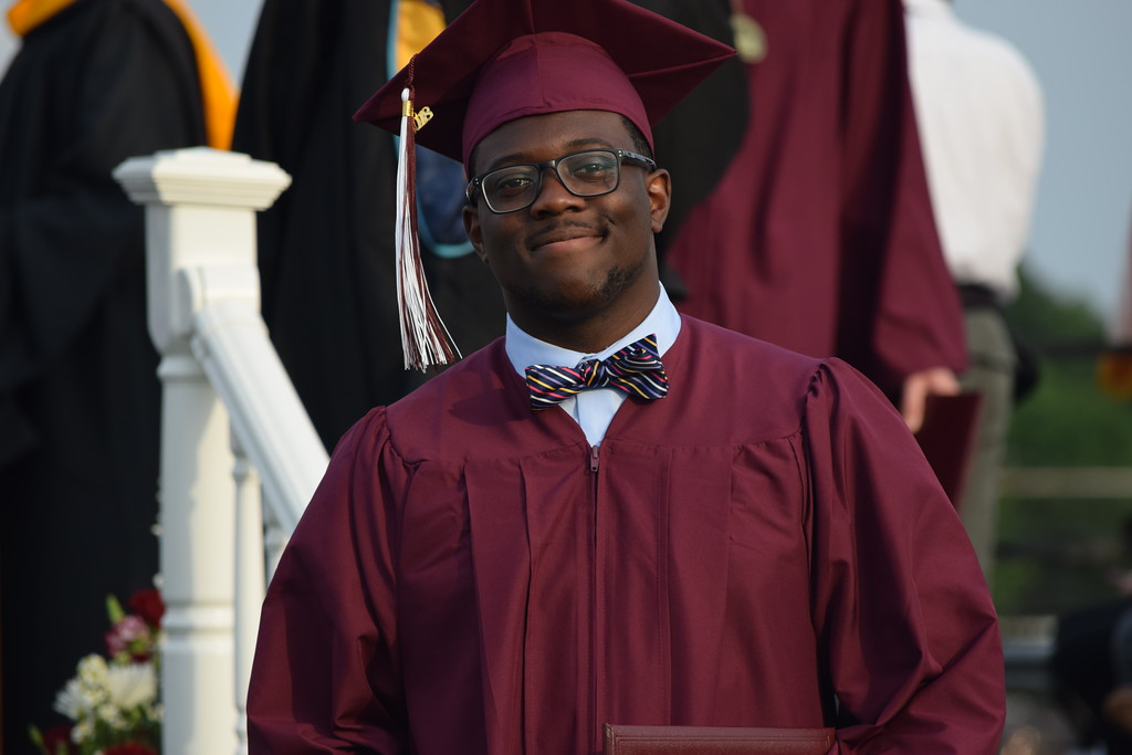 . Marian Dennis � Digital First Media Pottsgrove High School graduates were all smiles Friday as they walked off the stage with diplomas in tow.