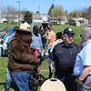 Michilea Patterson, Digital First Media <br /> Smoky the Bear stands among members of the community during a celebration of children in Pottstown.