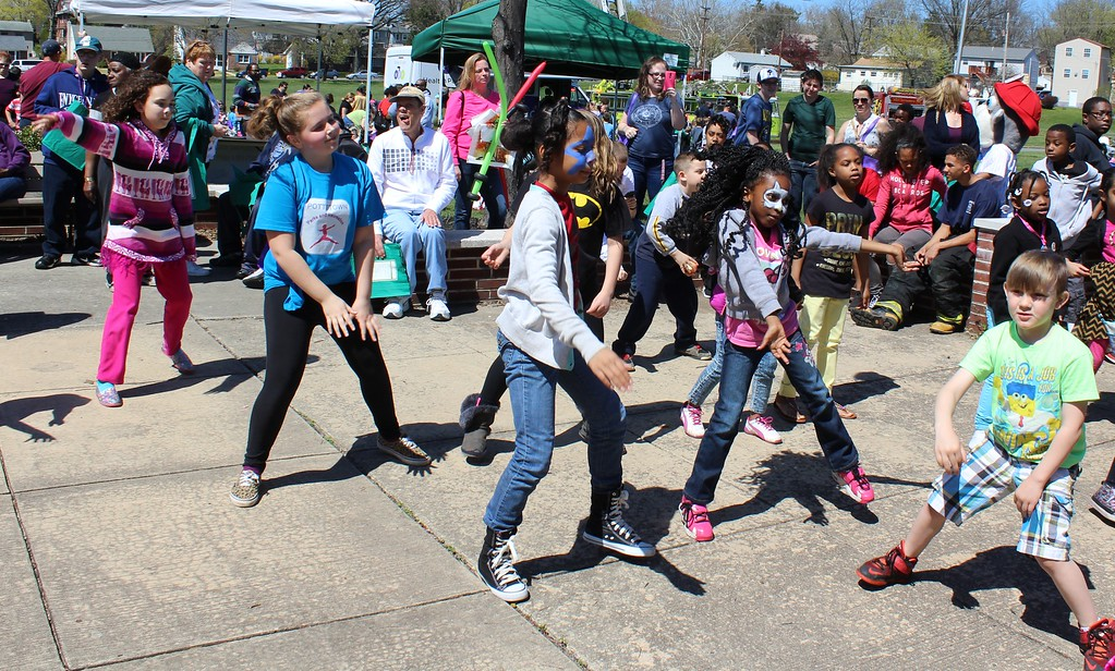 . Michilea Patterson, Digital First Media Children have fun dancing during the combined PEAK Pottstown Celebrates Young Children and YMCA Healthy Kids Day event Saturday at Pottstown High School.