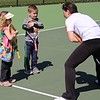 Michilea Patterson, Digital First Media<br /> Danielle Bechtel, 4, and Alex Bechtel, 5, get some instruction from a representative of Greater Pottstown Tennis & Learning during the combined PEAK Celebrates Young Children and YMCA Healthy Kids Day event Saturday.