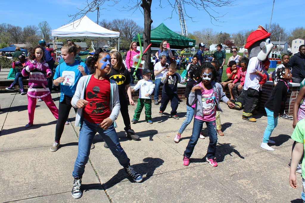 . Michilea Patterson, Digital First Media  Kids dance to music during a celebration for children at Pottstown High School.