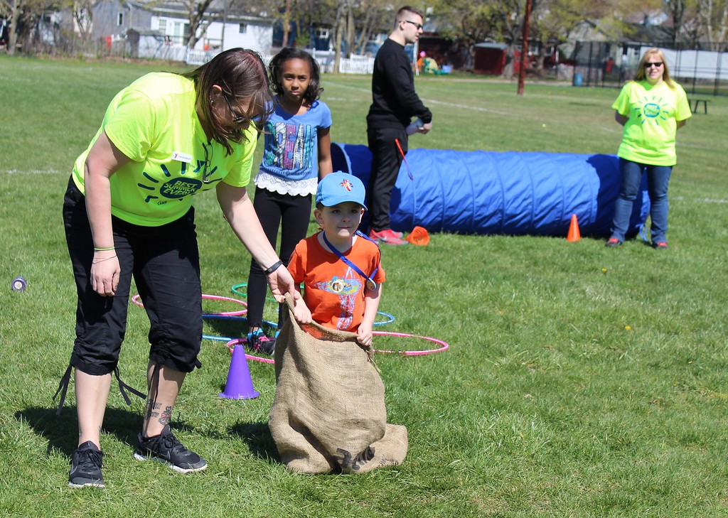 . Michilea Patterson, Digital First Media  Children participate in an obstacle course during the combined 2016 PEAK Pottstown Celebrates Young Children Event and the Pottstown YMCA Healthy Kids Day.