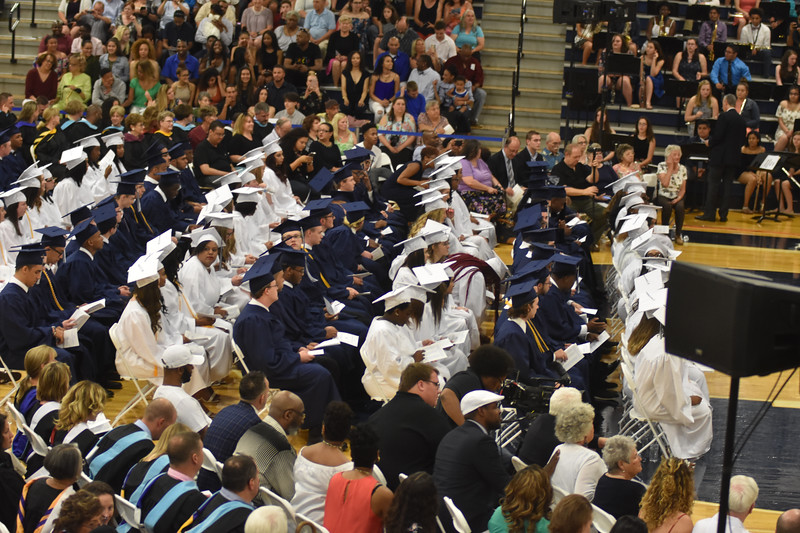 Barry Taglieber — For Digital First Media<br /> With parents and faculty in attendance, the class of 2018 makes its final appearance at Pottstown High School Friday evening as graduates prepare for the future.