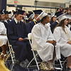 Barry Taglieber — For Digital First Media<br /> Members of the Pottstown High School class of 2018 listen to the speakers during Friday's commencement.