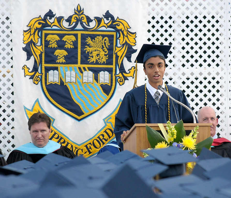 . Gene Walsh � Digital First Media Valedictorian Yash Shah presents his speech June 13, 2018.