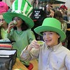 East Vincent Elementary School students drink healthy and green spinach smoothies during lunch on St. Patrick's Day.