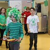 East Vincent Elementary students dress in green outfits in honor of St. Patrick's Day.