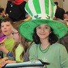 Danielle Nemeth, 10, wears green and a huge hat in honor of St. Patrick's Day at East Vincent Elementary School.