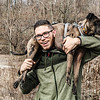Trevor DeHaas, 26, of Phoenixville poses with his 2 1/2-year-old Catahoula Leopard dog, Kahlua, with whom he is travelling across the U.S.  Photo Courtesy of Trevor DeHaas