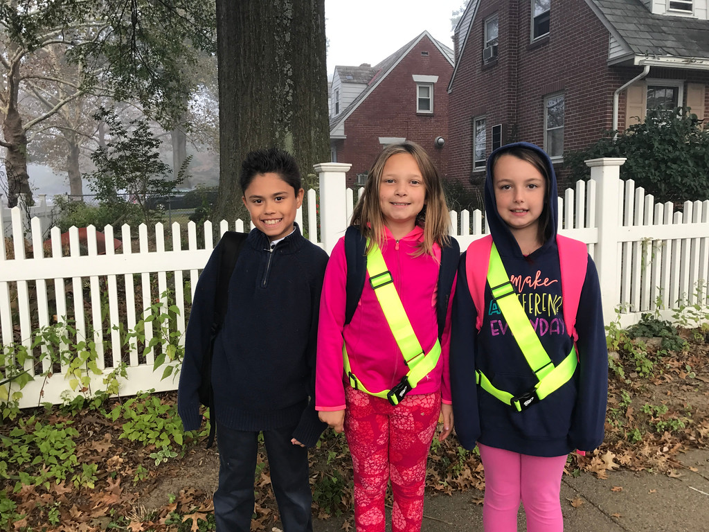 . Student safetys, like these Barth Students, are an important part of Pottstown\'s efforts to keep students safe when they walk to school everyday, as well as on National Walk to School Day Wednesday.