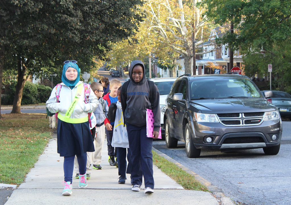 . Wednesday, National Walk to School Day, was also the start of the Walking School Bus at Pottstown\'s Rupert Elementary School.