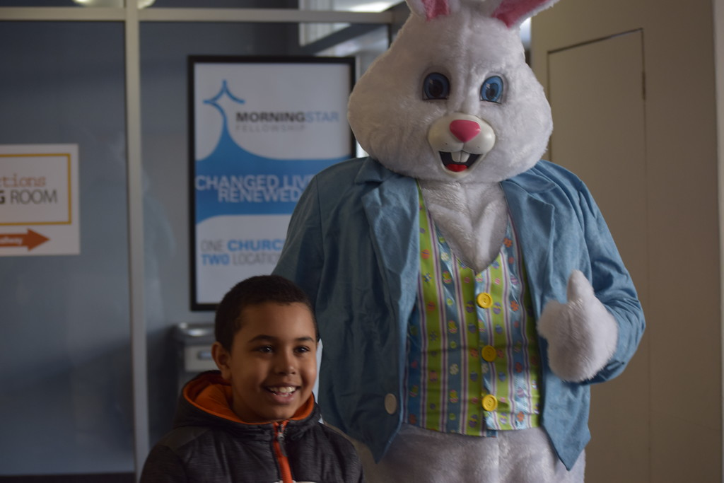 . Marian Dennis � Digital First Media No Easter egg hunt would be complete without an appearance by the Easter Bunny. Kids could take pictures with the famous rabbit in between grabbing a bite to eat and enjoying the crafts and an egg hunt.