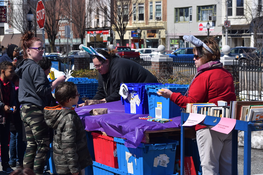 . Marian Dennis � Digital First Media Kids stopped by Rite Aid on East High Street Saturday to collect eggs as part of the downtown Pottstown Egg Hunt.