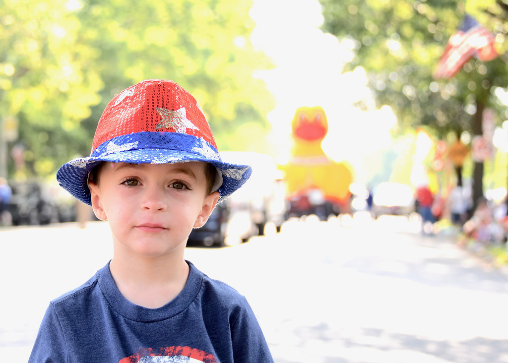 . Jesi Yost � For Digital First Media 3-year-old Jacob Seasholtz of Pottstown is dressed for the occasion at Pottstown�s Fourth of July Parade.