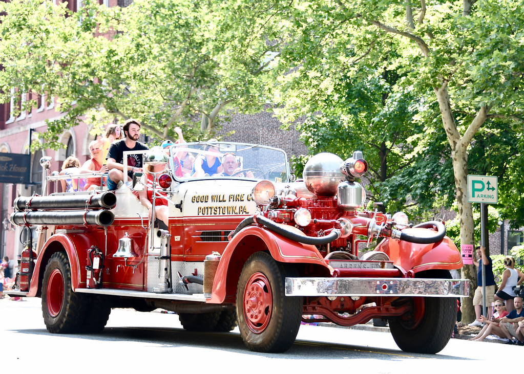 . Jesi Yost � For Digital First Media Firetrucks are a popular fixture in every parade. This one belongs to Pottstown�s Good Will Fire Company.