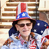 Jesi Yost — For Digital First Media<br /> Dressed in red, white and blue, Dick Hatfield watches the Pottstown July 4th Parade.