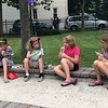 MONICA SAGER — DIGITAL FIRST MEDIA<br /> Kids enjoy free water ice at National Night Out at the Washington and Chestnut Street Park.