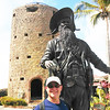 Pottstown High School teacher Andy Bachman took his Pottstown pride to the Caribbean when he visited St. Thomas this summer.