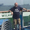 Pottstown High School graduate David Miller, an attorney with the Dolan Law Group shows his We Are Pottstown Pride as he cruises off of Bayonne, N.J. Trojan Nation is everywhere.
