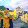 When we say Trojan Man is everywhere, we mean it. Here he is (ahem) on the Great Wall of China....no, really.