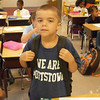 Logan Ramos showed his Pottstown Pride on the first day of school  last year when first entered his first grade class at Franklin Elementary School.