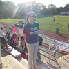 5th Grader Imani Bird Germany as she shows her  Pottstown Pride at the Girls Field Hockey Senior Day Game with Pope John Paul at Grigg Stadium.