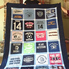Before Aidan Owens headed off to Alvernia this fall, he packed up a very special Trojan Pride quilt his mother had made for him.