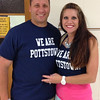Barth Elementary School Principal Ryan Oxenford and his sister Pottstown Middle School teacher Desiree Oxenford Schwoyer show their brother, sister We Are Pottstown Pride as they prepared for the opening day of school.