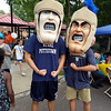 You know its a big deal when BOTH Trojan Men show up at your event. Here they are in the Chestnut Street park on National Night Out.