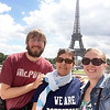 Pottstown School District School Psychologist, Lana Dickinson, goes international with her We Are Pottstown Pride, as she stands with her children in front of the Eiffel Tower in Paris France. Trojan Nation is everywhere