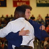 Nyles Rome, president of Pottstown High School's class of 2017, embraces Aaron Diamond, president of the class of 2018, after handing over the mantle. The ceremony signifies the moving on of the current senior class to make way for the next.<br /> <br /> Marian Dennis – Digital First Media