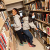 Photo Courtesy of The Hill School<br /> Construction is a dusty business and these two Hill School students spent PottstownCARES Day helping spruce up the inside of the Pottstown Regional Public Library, which is being renovated.