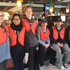 Photo courtesy of The Hill School<br /> A PottstownCARES clean-up team raked leaves in front of the Pottstown and Penn Diner Friday and the appreciative proprietor invited them inside to warm up.