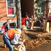 Evan Brandt -- Digital First Media<br /> King Street was abuzz with rakes and shovels Thursday as students from Pottstown High School, The Hill School and Montgomery County Community College joined forces for PottstownCARES Day.