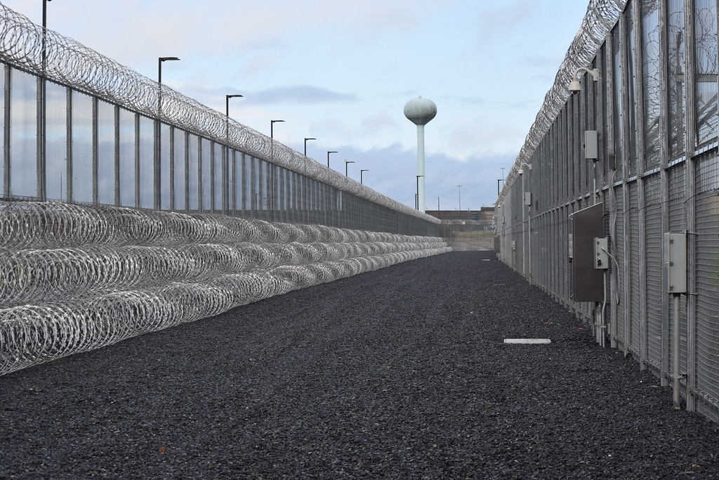 . Fences surrounding the new SCI Phoenix, set to replace Graterford State Prison, are equipped with technology that alerts guards to anyone walking between the fences. A system is also in place to notify guards if the fences are tampered with. Marian Dennis -- Digital First Media