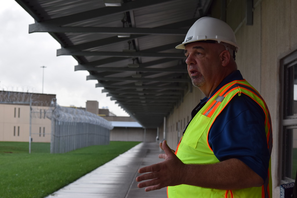 . Walter Grunder, critical incident manager at Graterford State Prison, gives a tour of the new SCI Phoenix set to replace Graterford. Marian Dennis -- Digital First Media