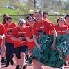 Marian Dennis – Digital First Media<br /> Athletes at Daniel Boone High School's Special Olympics event were eager to get started Wednesday as they came rushing through a banner representing their district.