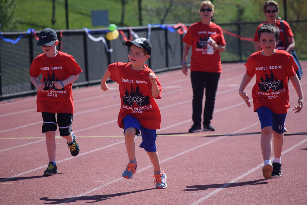 . Marian Dennis � Digital First Media Races and other activities were scattered over the field at Daniel Boone High School as athletes participated in the annual Special Olympics event.