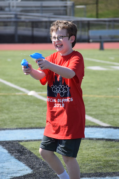 Marian Dennis – Digital First Media<br /> Water gun fights were among the many activities athletes participated in Wednesday at the Special Olympics event at Daniel Boone High School in Birdsboro.